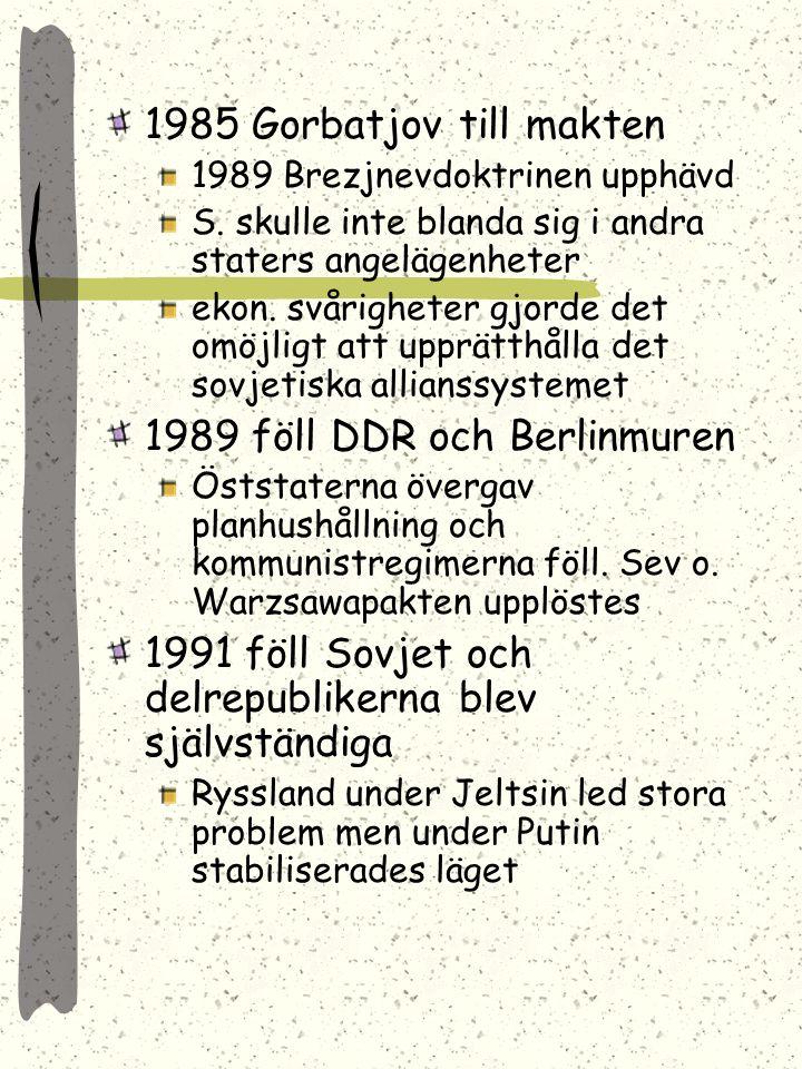 1989 föll DDR och Berlinmuren