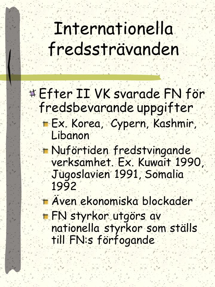 Internationella fredssträvanden
