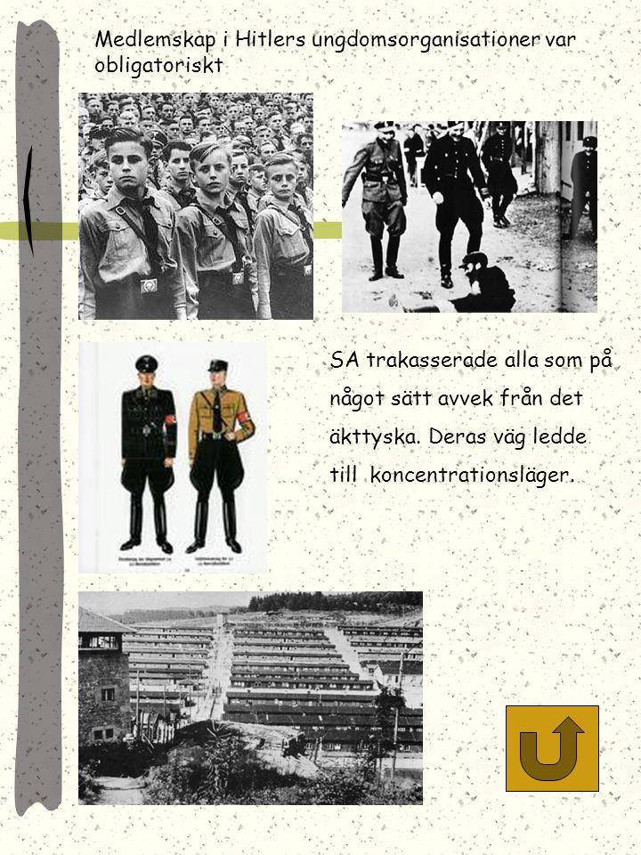 Medlemskap i Hitlers ungdomsorganisationer var obligatoriskt