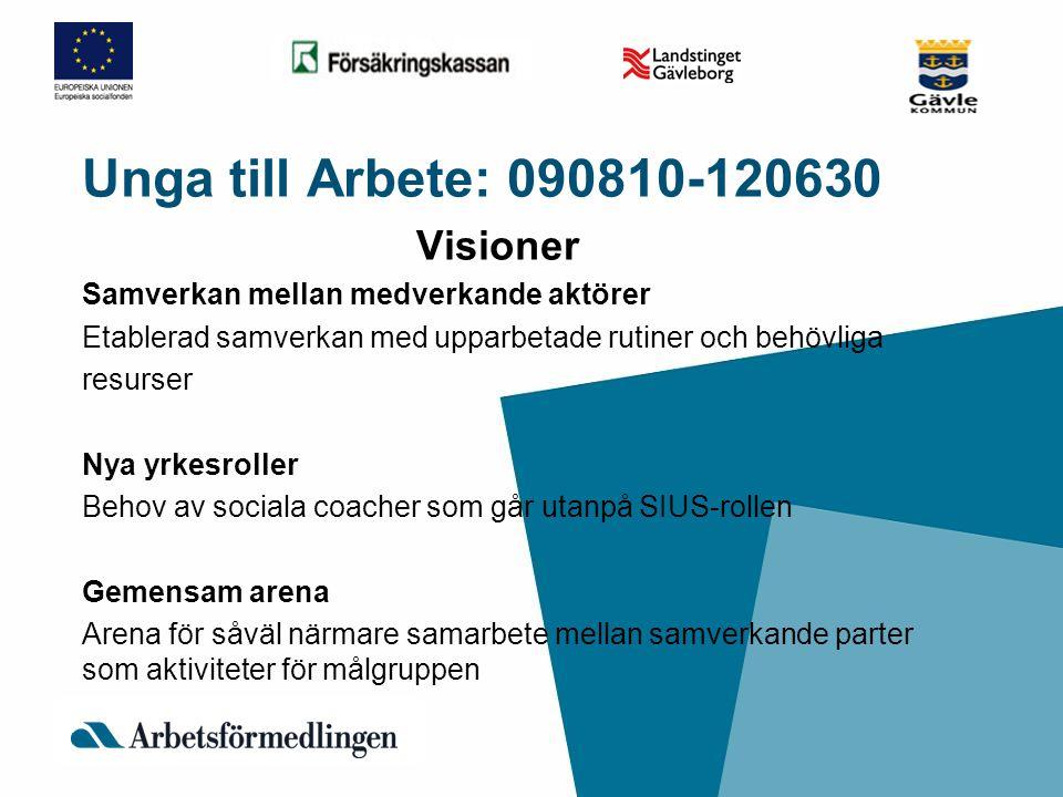 Unga till Arbete: 090810-120630 Visioner