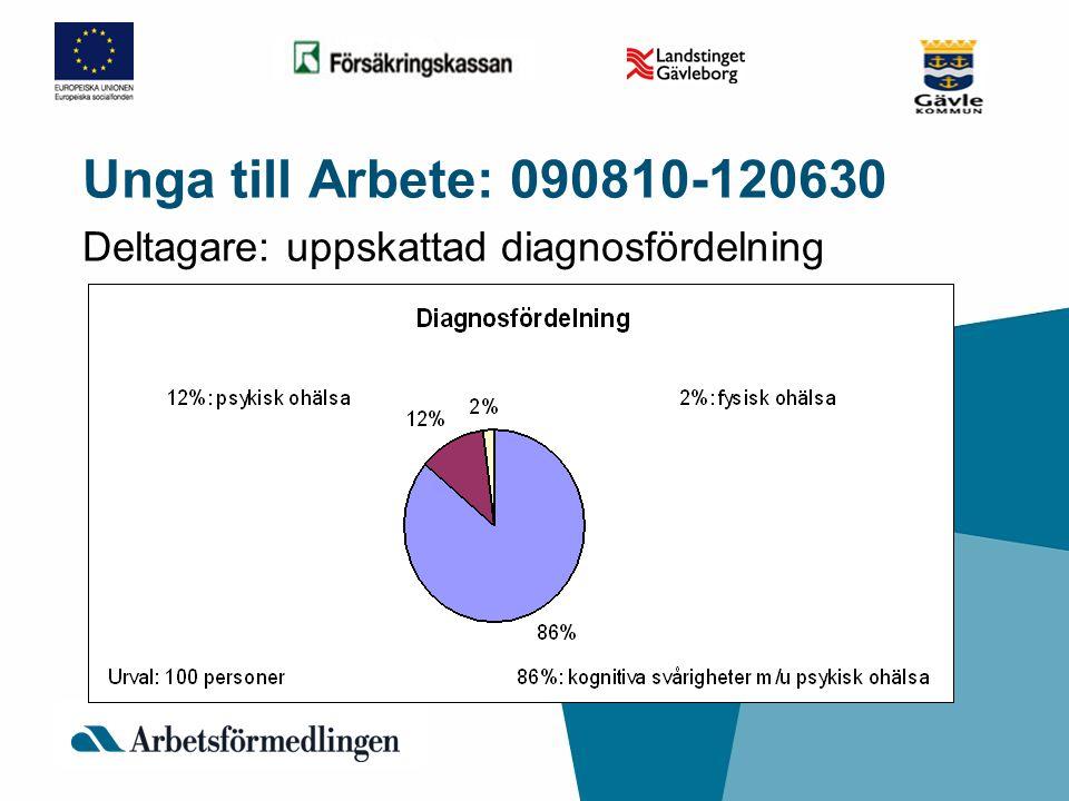Deltagare: uppskattad diagnosfördelning