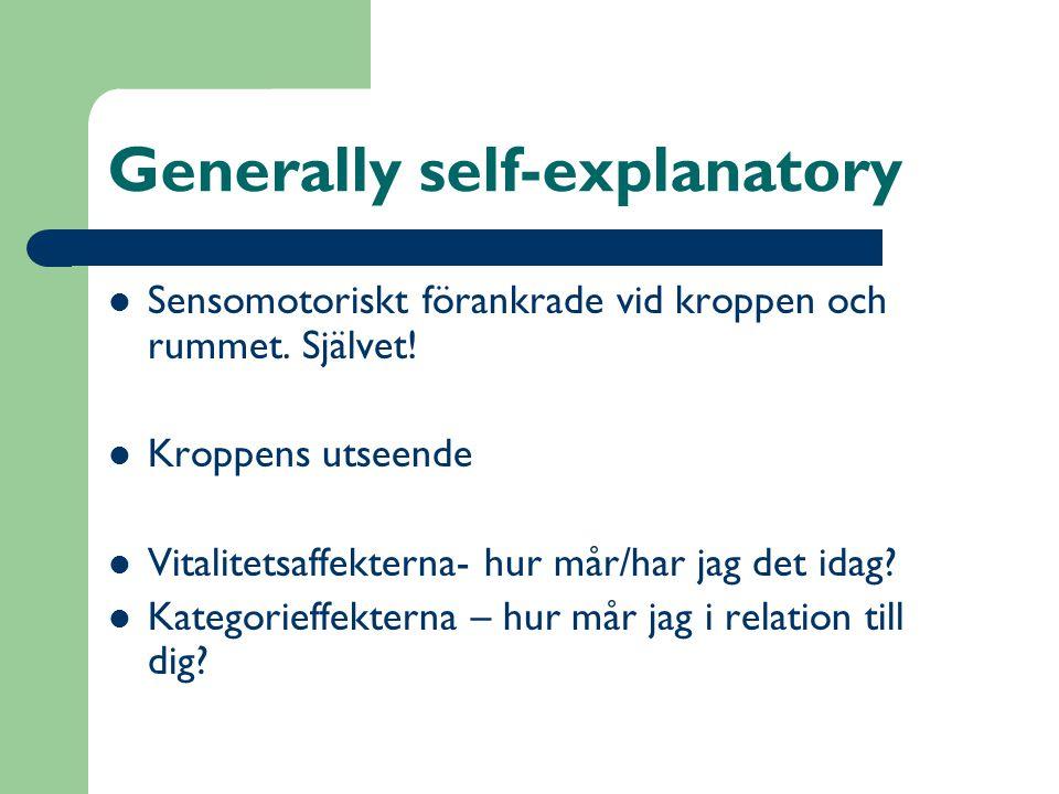 Generally self-explanatory