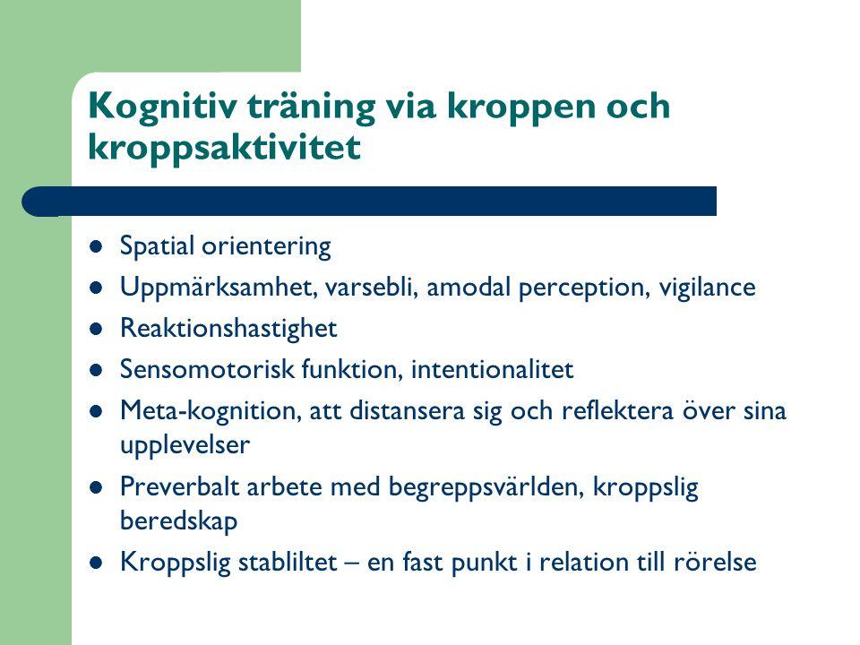 Kognitiv träning via kroppen och kroppsaktivitet