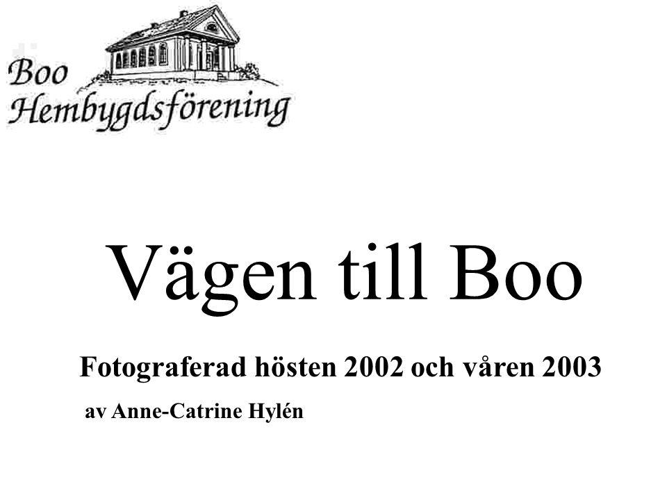 Vägen till Boo Fotograferad hösten 2002 och våren 2003