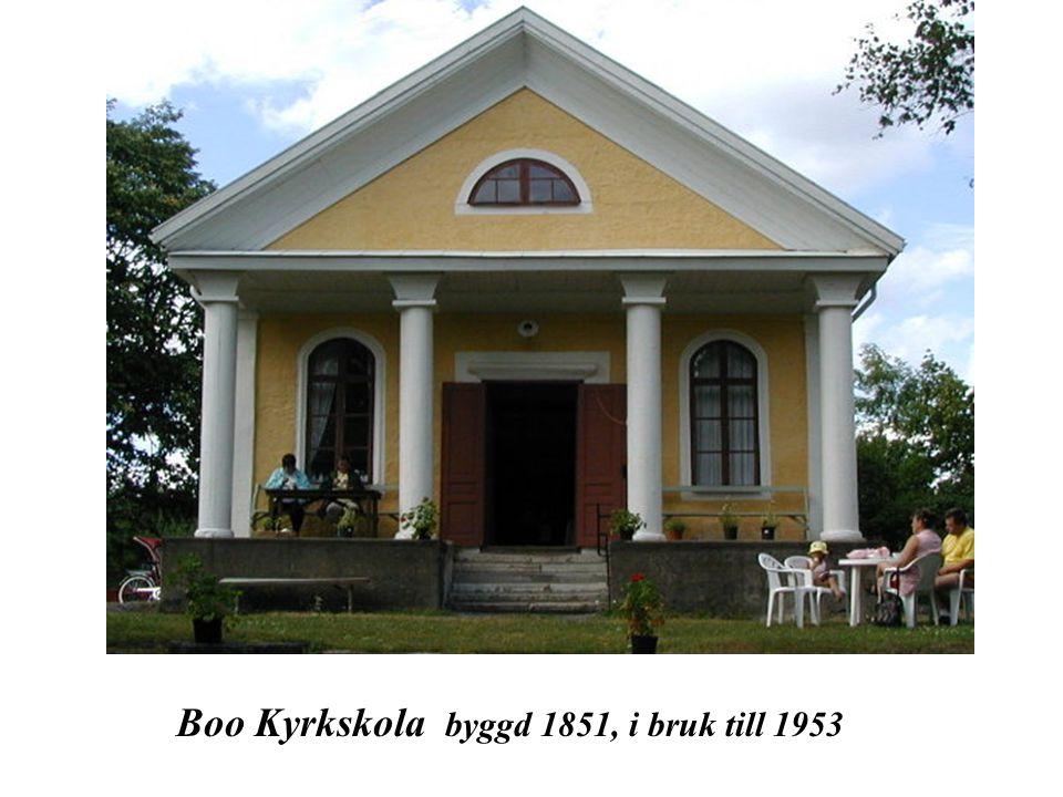 Boo Kyrkskola byggd 1851, i bruk till 1953