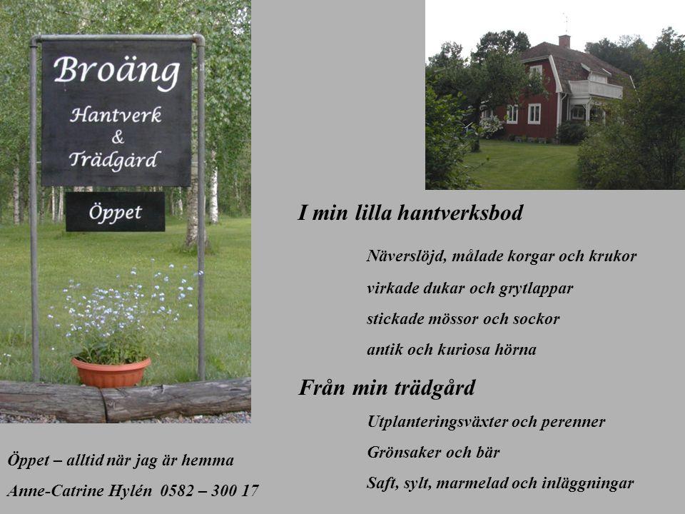I min lilla hantverksbod Näverslöjd, målade korgar och krukor
