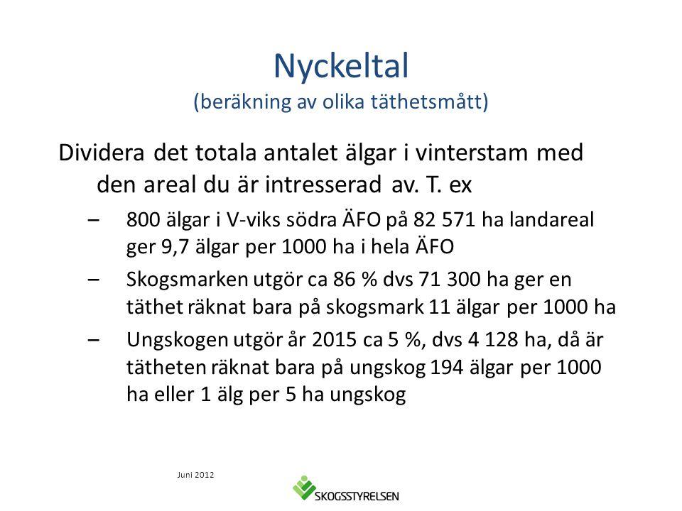 Nyckeltal (beräkning av olika täthetsmått)