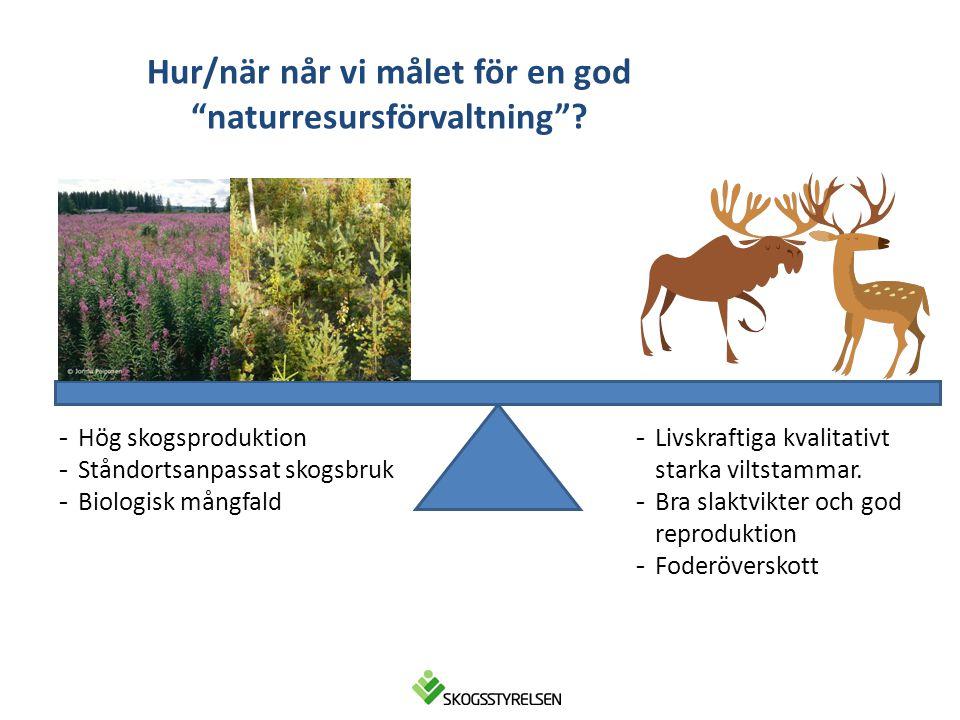 Hur/när når vi målet för en god naturresursförvaltning