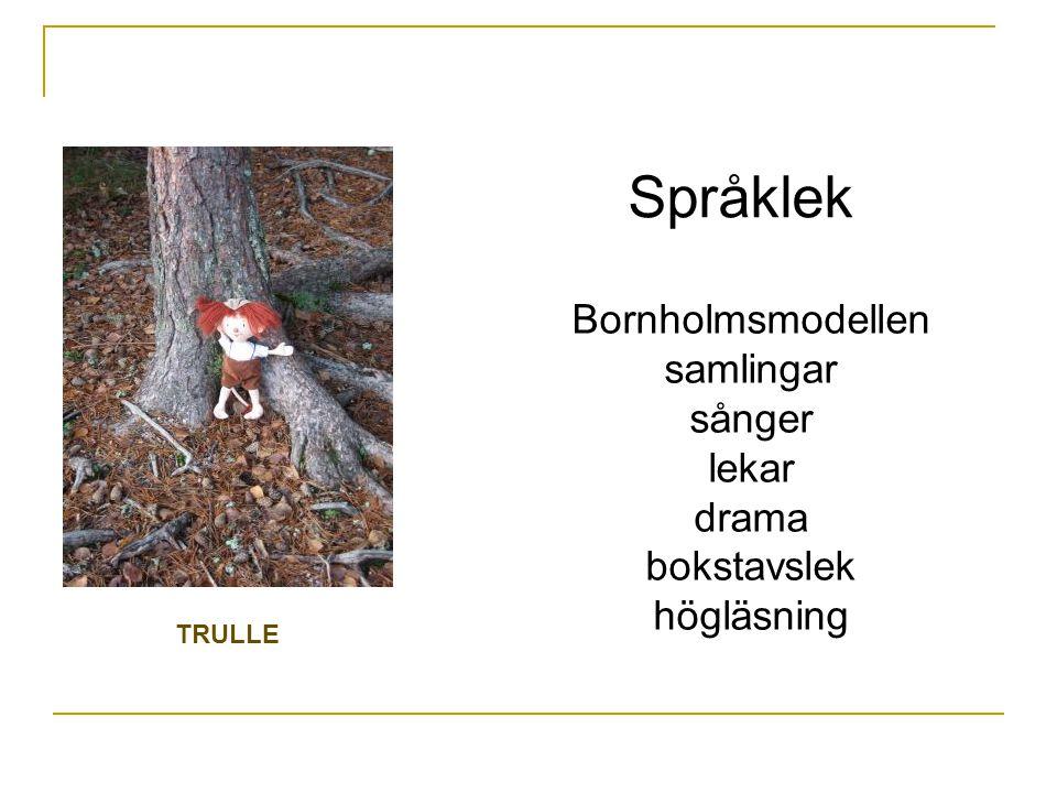 Språklek Bornholmsmodellen samlingar sånger lekar drama bokstavslek