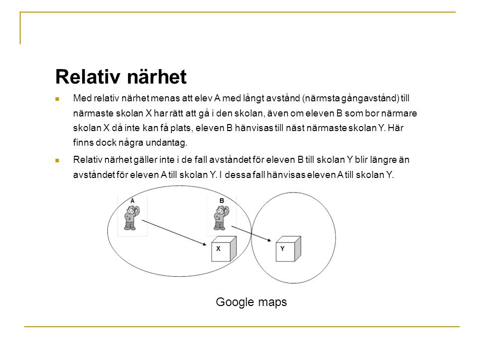 Relativ närhet Google maps