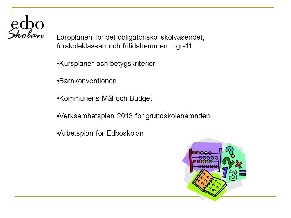 Läroplanen för det obligatoriska skolväsendet, förskoleklassen och fritidshemmen. Lgr-11