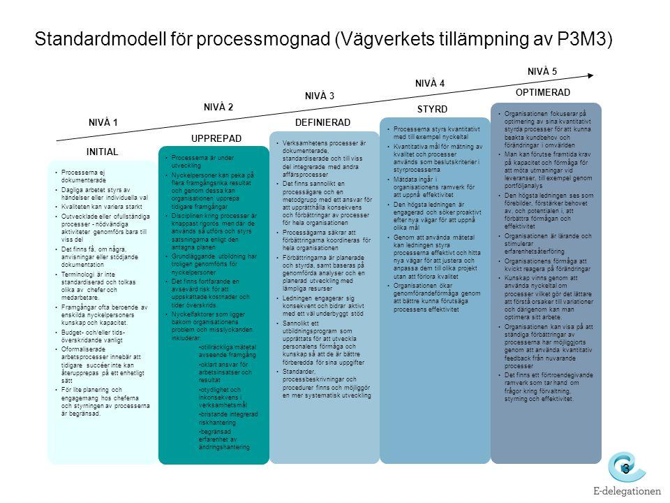 Standardmodell för processmognad (Vägverkets tillämpning av P3M3)