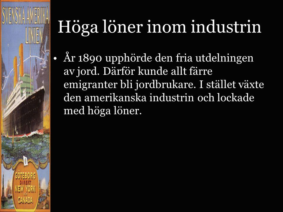 Höga löner inom industrin