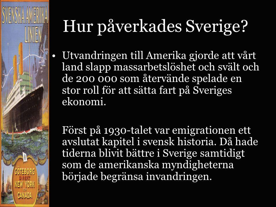 Hur påverkades Sverige
