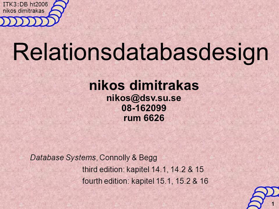 Relationsdatabasdesign