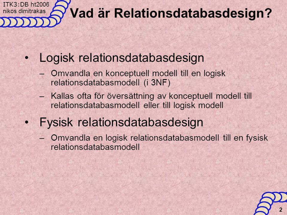 Vad är Relationsdatabasdesign