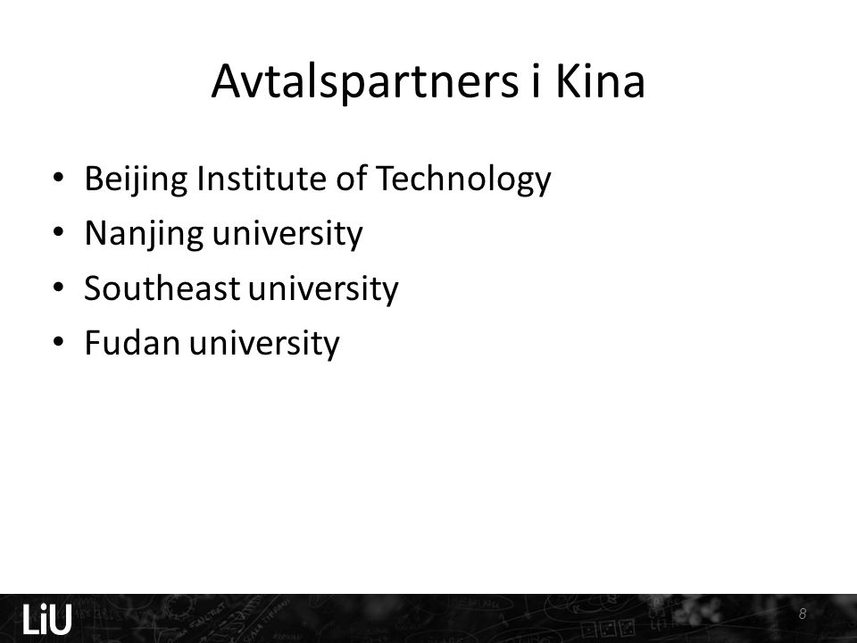 Avtalspartners i Kina Beijing Institute of Technology