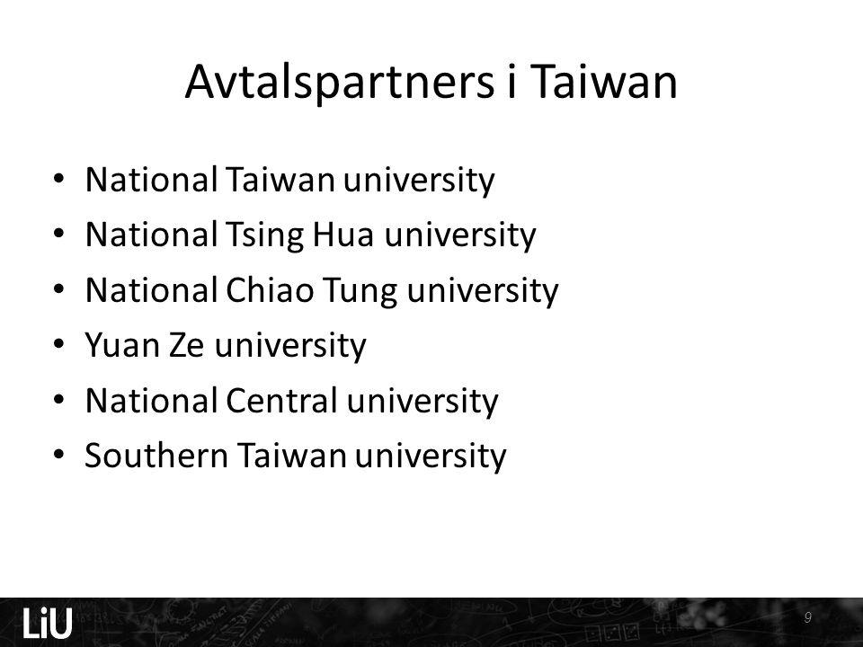 Avtalspartners i Taiwan