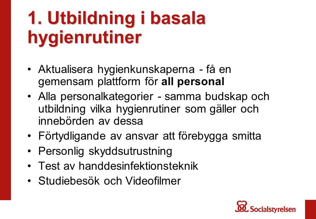 1. Utbildning i basala hygienrutiner