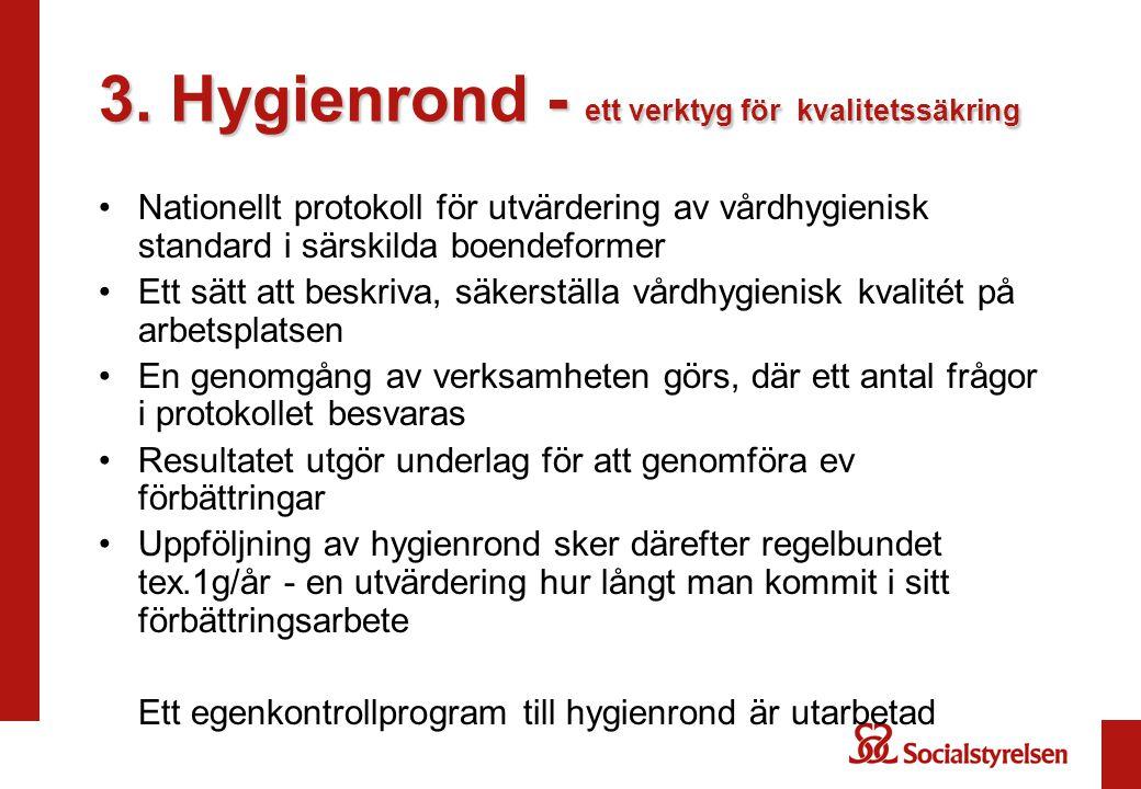 3. Hygienrond - ett verktyg för kvalitetssäkring