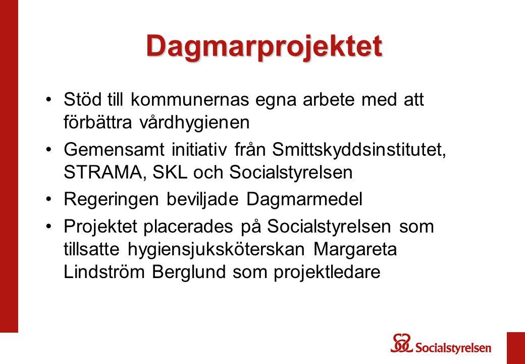 Dagmarprojektet Stöd till kommunernas egna arbete med att förbättra vårdhygienen.