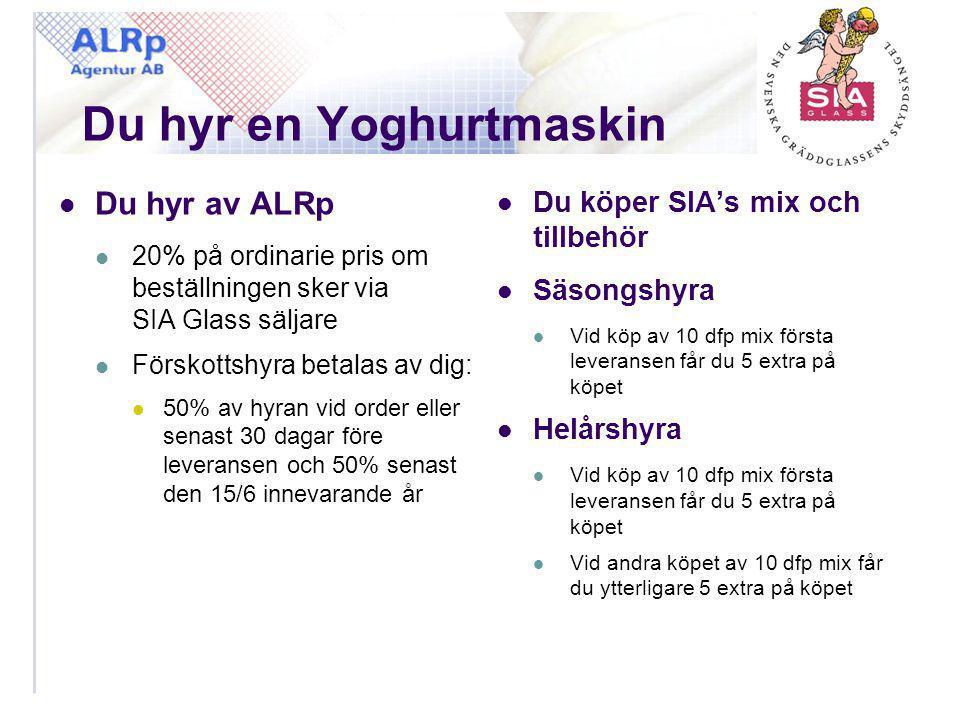 Du hyr en Yoghurtmaskin