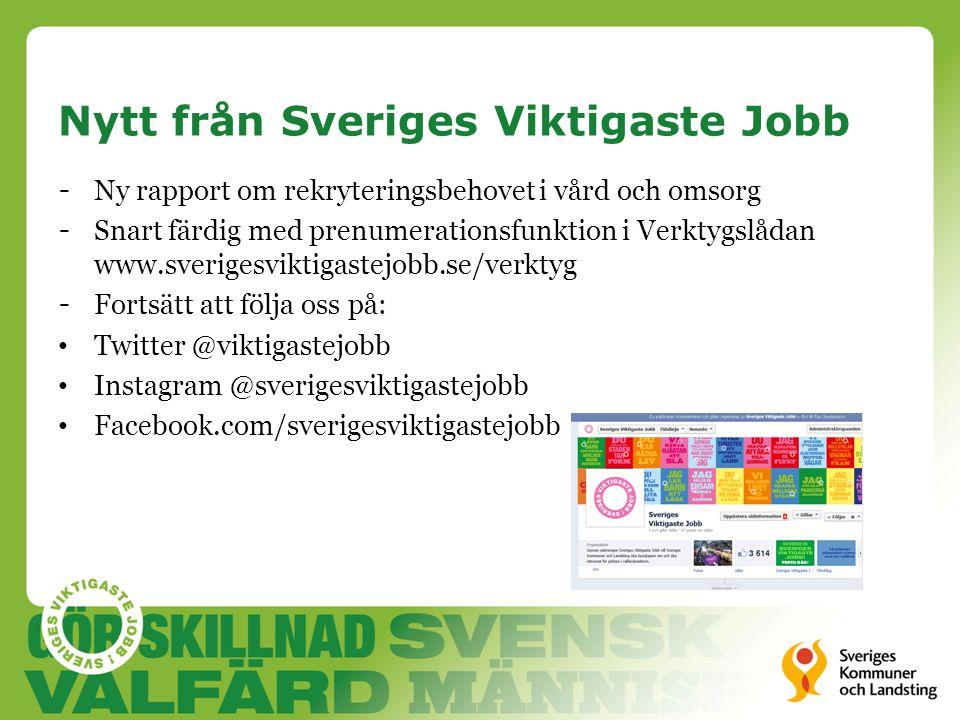 Nytt från Sveriges Viktigaste Jobb