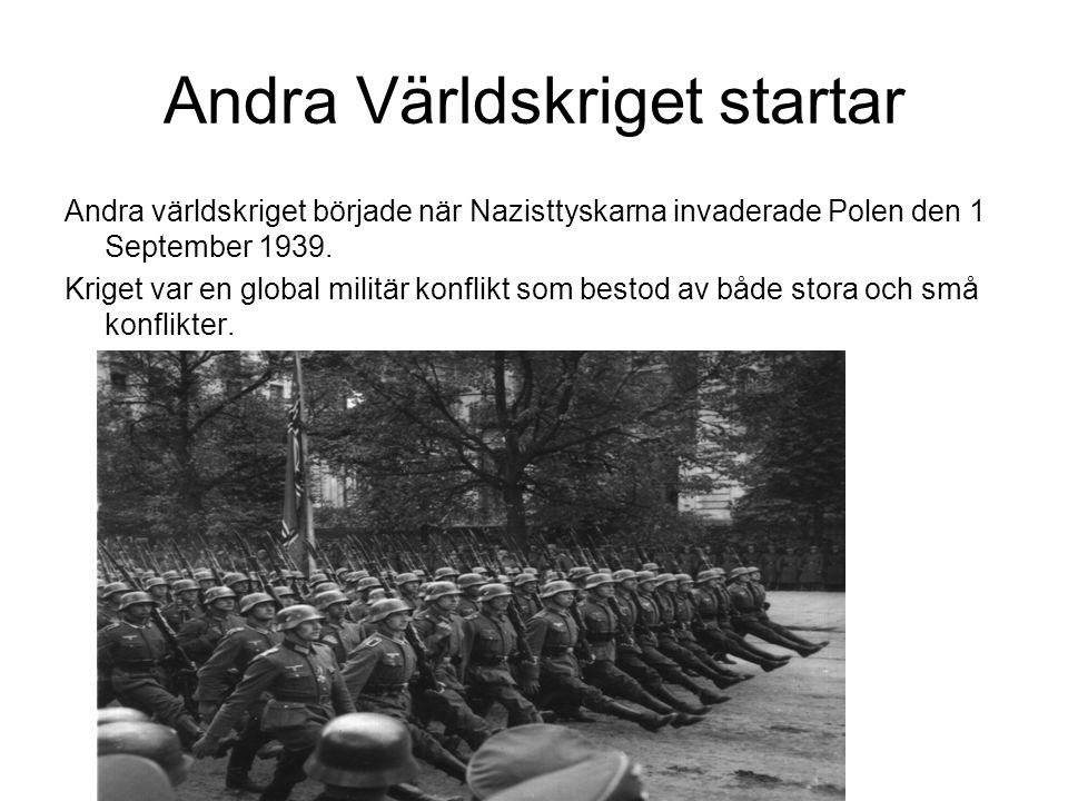 Andra Världskriget startar
