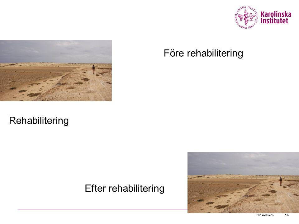 Före rehabilitering Rehabilitering Efter rehabilitering 2017-04-03