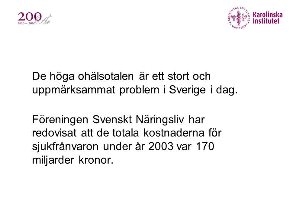 De höga ohälsotalen är ett stort och uppmärksammat problem i Sverige i dag.