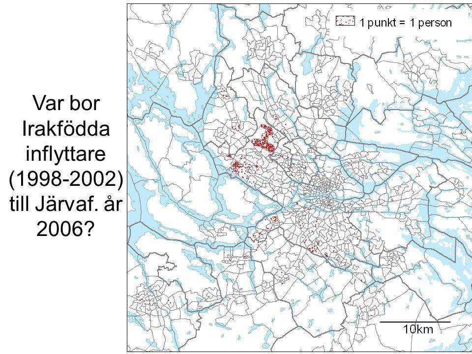Var bor Irakfödda inflyttare (1998-2002) till Järvaf. år 2006