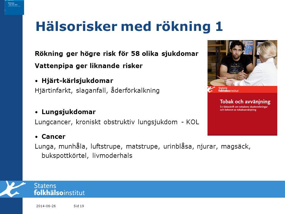 Hälsorisker med rökning 1