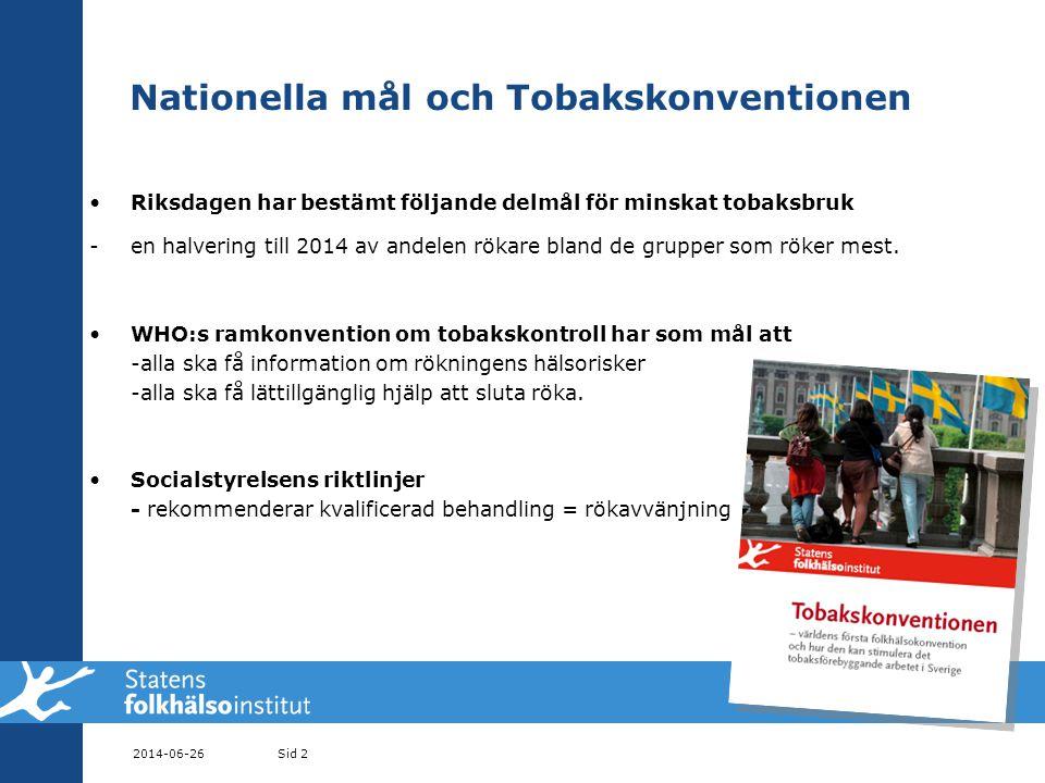 Nationella mål och Tobakskonventionen