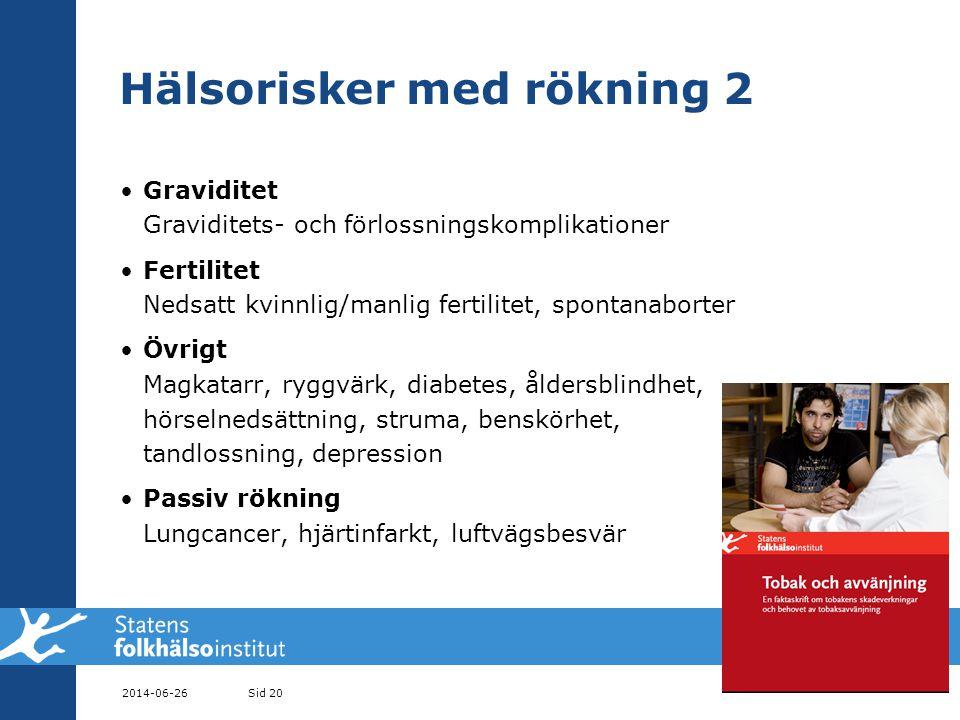 Hälsorisker med rökning 2