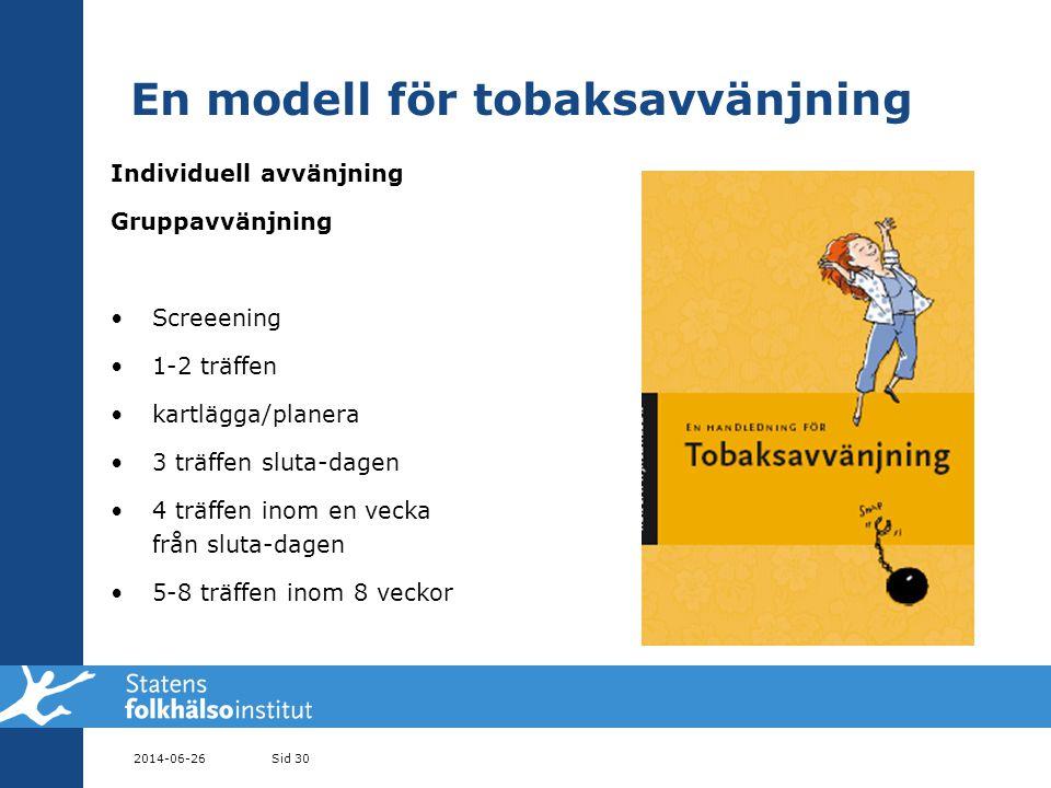 En modell för tobaksavvänjning