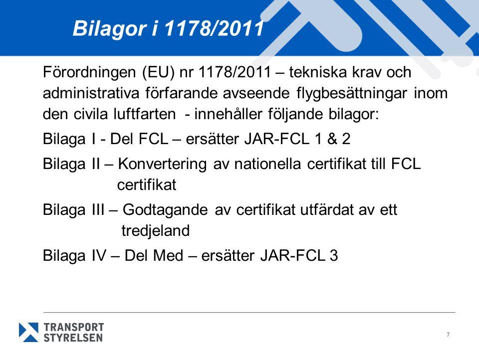 Bilagor i 1178/2011