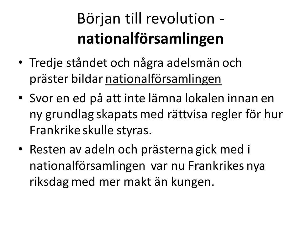 Början till revolution - nationalförsamlingen
