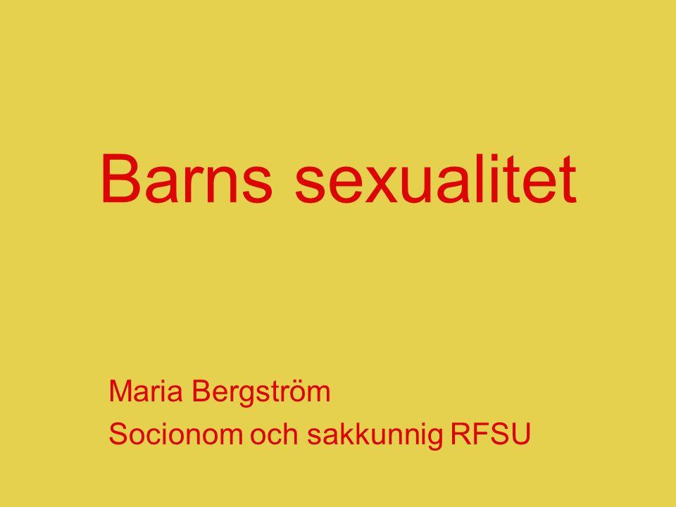Maria Bergström Socionom och sakkunnig RFSU