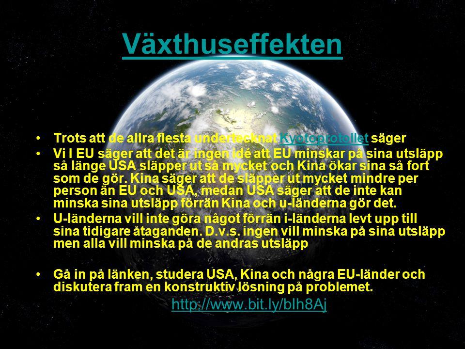 Växthuseffekten http://www.bit.ly/bIh8Aj