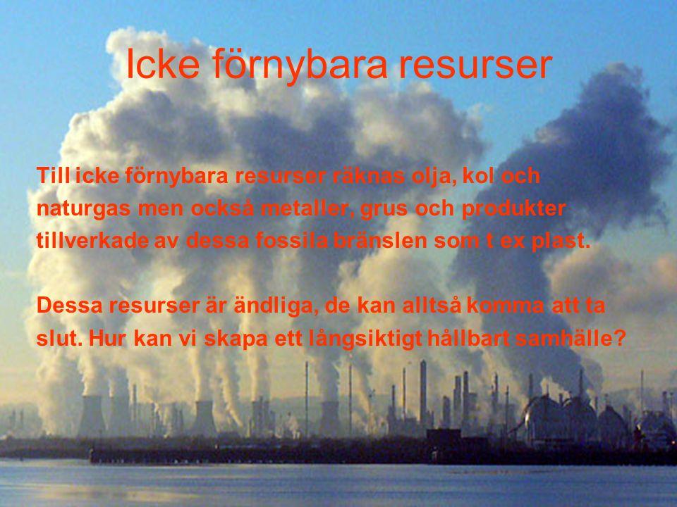 Icke förnybara resurser