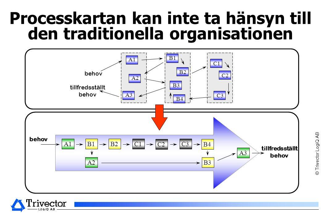 Processkartan kan inte ta hänsyn till den traditionella organisationen