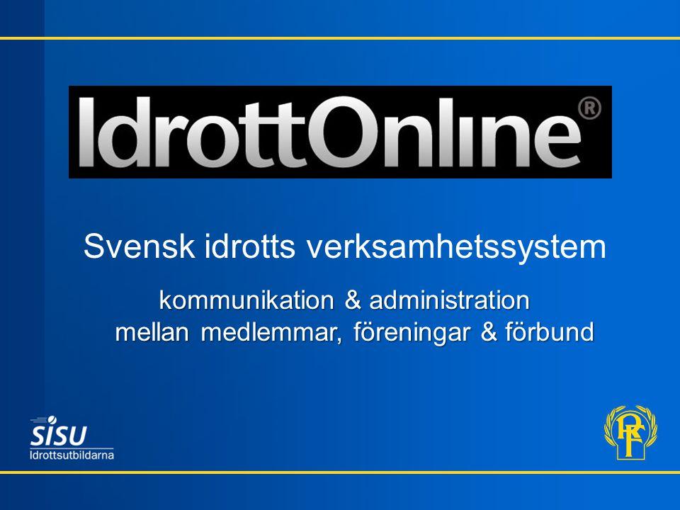 Svensk idrotts verksamhetssystem