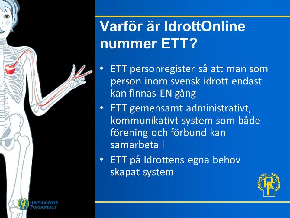 Varför är IdrottOnline nummer ETT