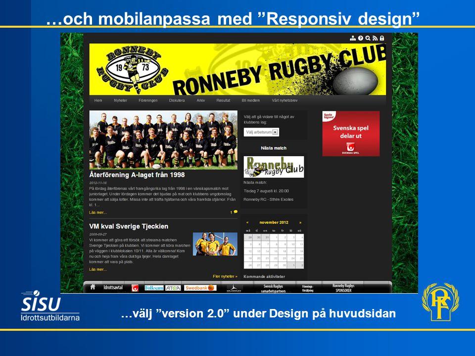 …och mobilanpassa med Responsiv design