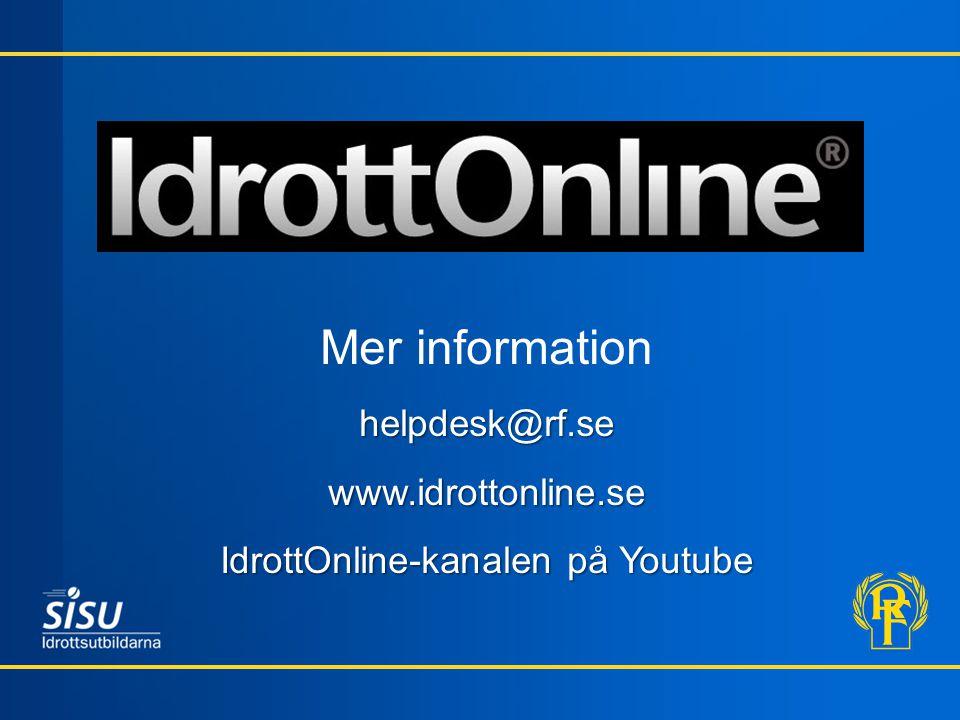 IdrottOnline-kanalen på Youtube
