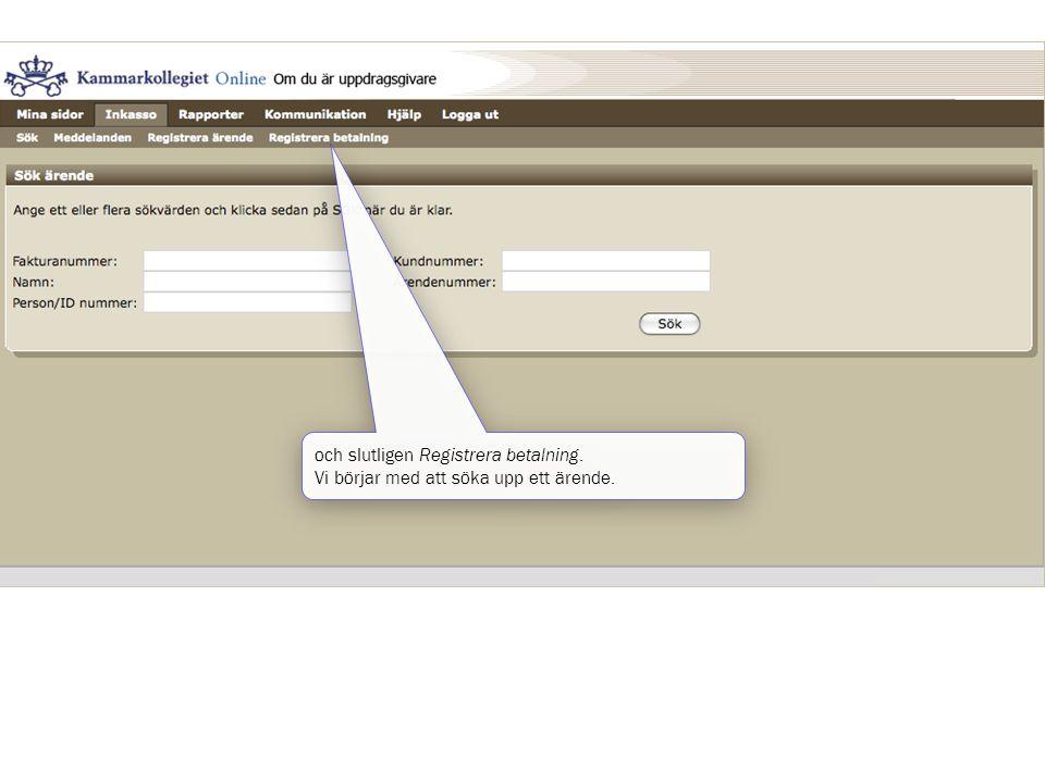 och slutligen Registrera betalning.
