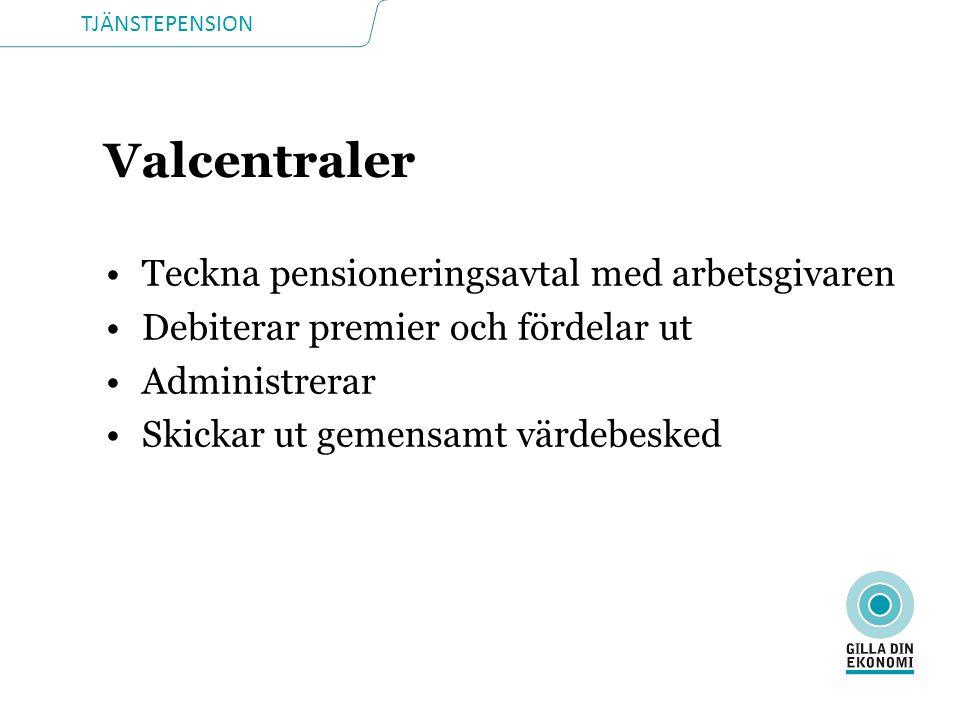 Valcentraler Teckna pensioneringsavtal med arbetsgivaren
