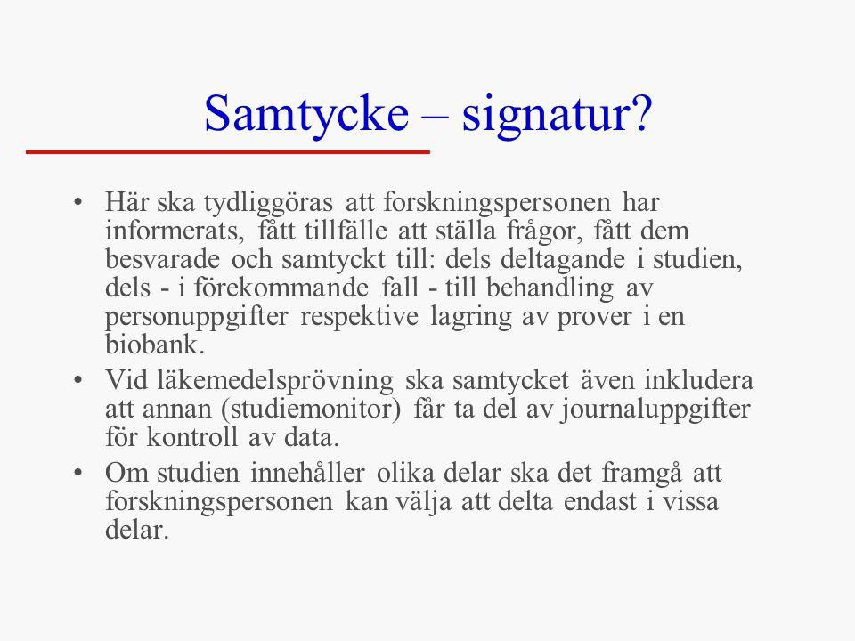 Samtycke – signatur