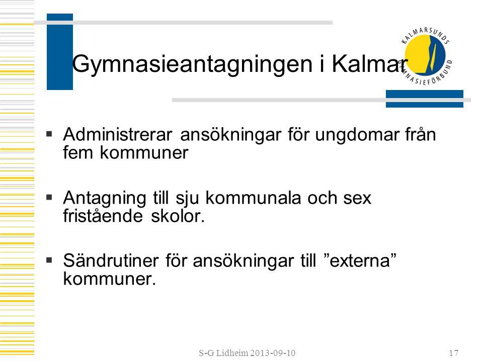 Gymnasieantagningen i Kalmar