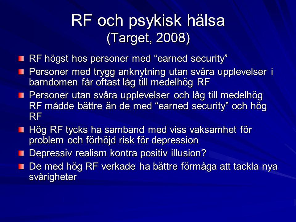 RF och psykisk hälsa (Target, 2008)